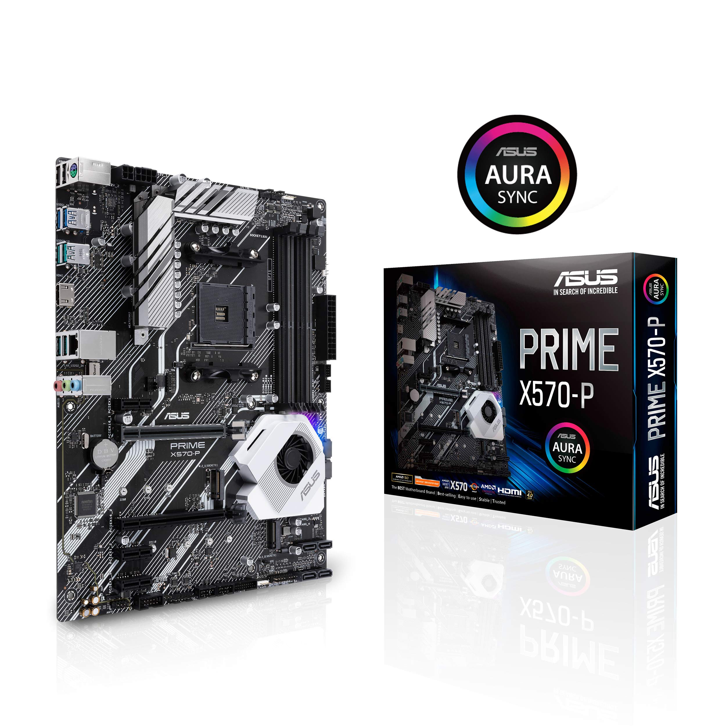 Asus Prime X570-P Ryzen 3 AM4 with PCIe Gen4, Dual M.2 HDMI, SATA 6GB/s USB 3.2 Gen 2 ATX Motherboard by ASUS