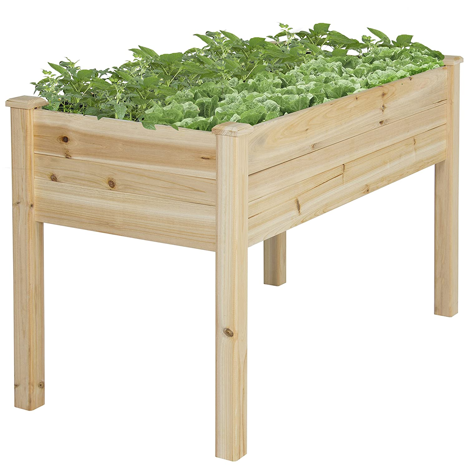 Best Choice Products Wooden Raised Garden Bed Kit