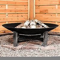 Feuerstelle schwarz Edelstahl XXL Fire Pit ✔ rund