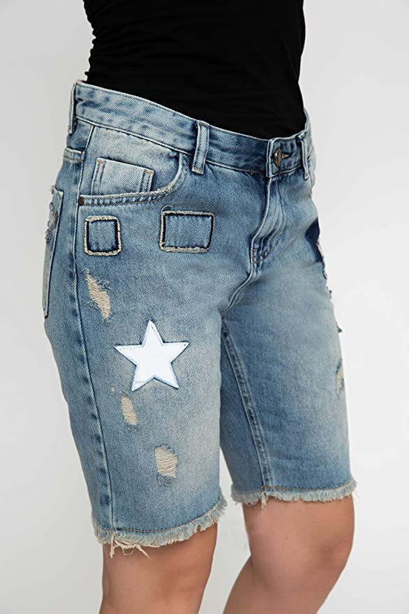 Zhrill Damen Jeansshorts Leni Women's Shorts D217473: Amazon