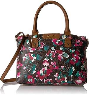 e321b9c0641 Calvin Klein Monogram Bowling Bag Satchel, Brown Combo: Handbags ...