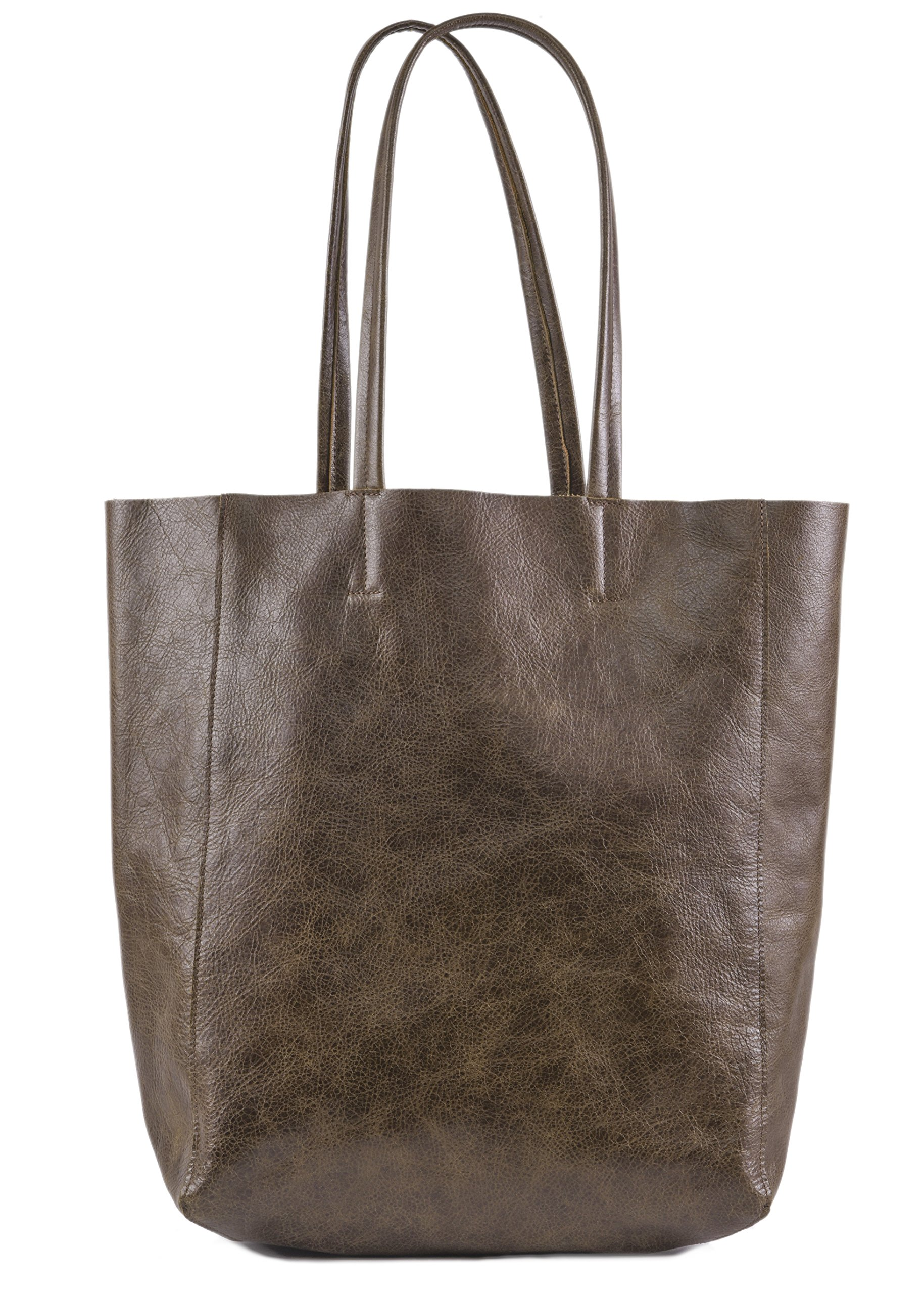 Women's Vintage Genuine Leather Tote Shoulder Bag - Large Capacity Travel Handbag by THE AARTISAN (Image #2)
