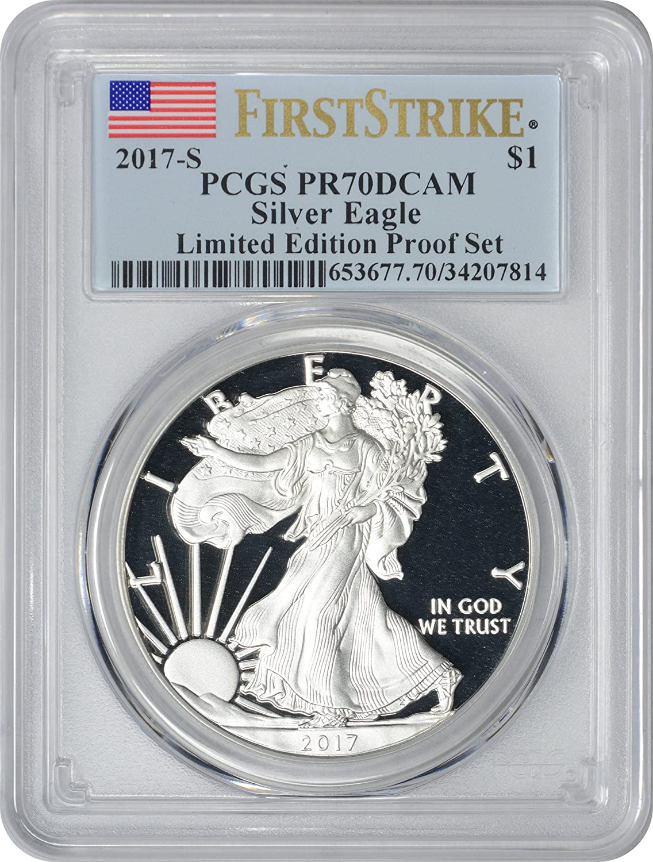 2014-W American Silver Eagle Dollar PR70DCAM PCGS Proof 70 Deep Cameo