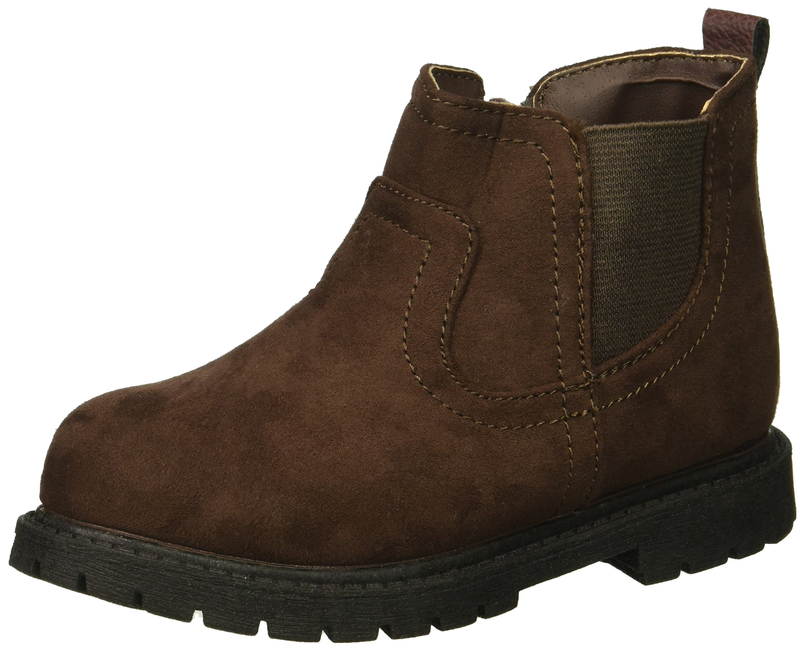 Carter's Boys' Cooper3 Chelsea Fashion Boot, Brown, 9 M US Toddler