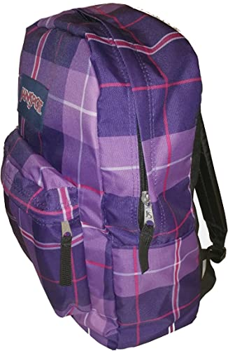 JanSport Classic SuperBreak Backpack Electric Purple Silk Royal Plaid