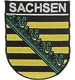 Yantec Wappen Patch Sachsen Aufnäher