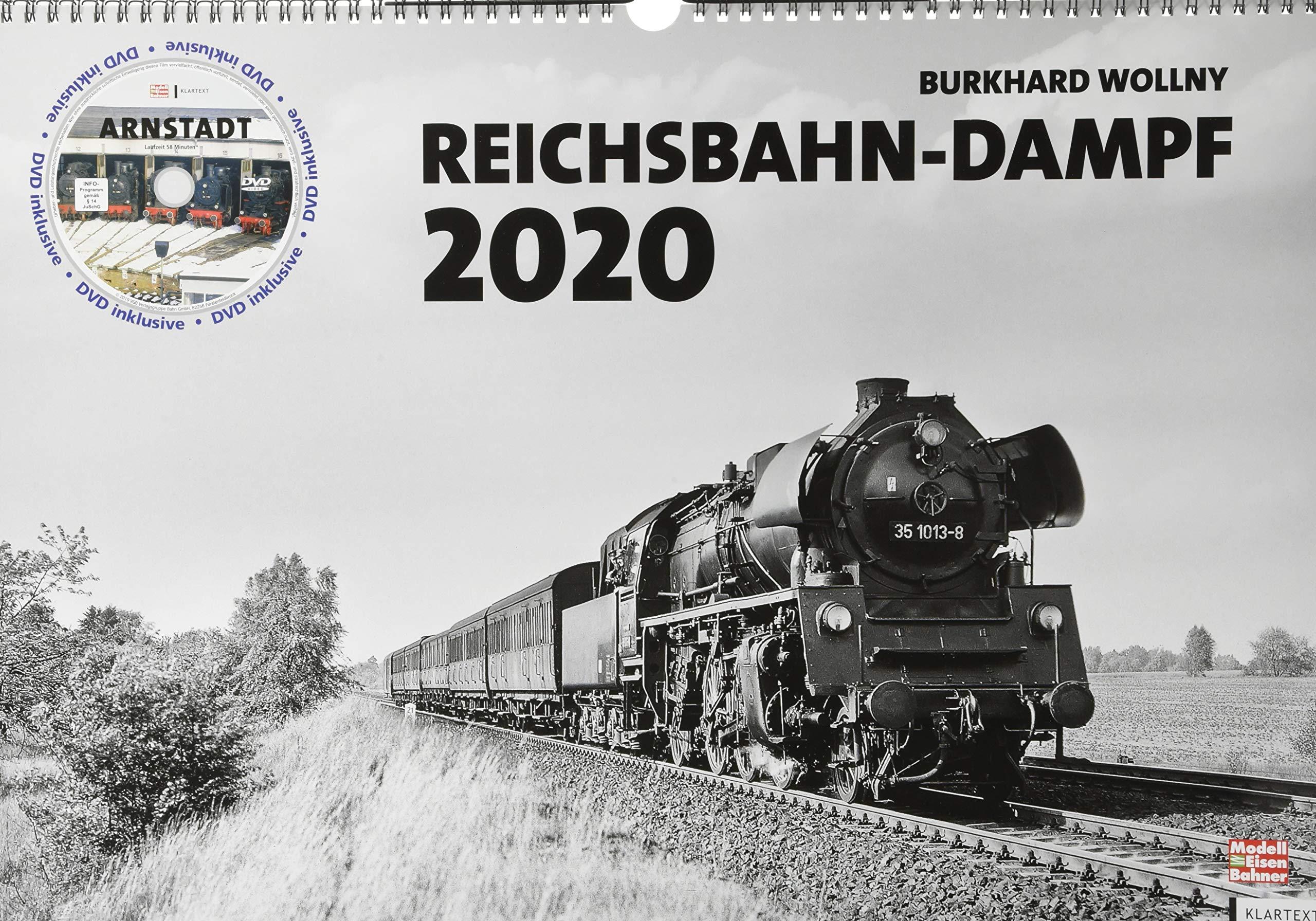 Reichsbahn Dampf 2020  Kalender 2020 Mit DVD