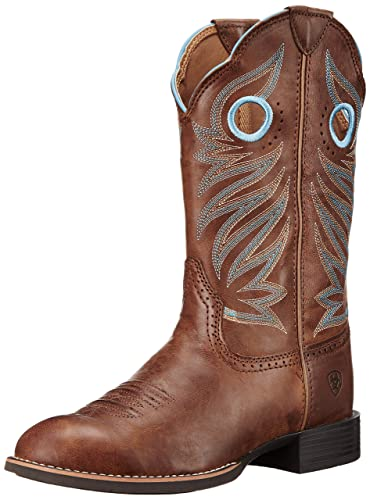 Ariat Women's Round Up Stockman Western Cowboy Boot, Wood, ...