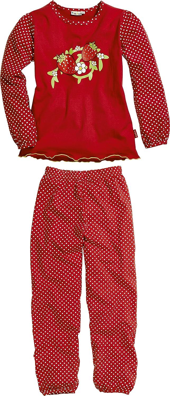 Playshoes Erdbeeren Jersey Lang - Ensemble de pyjama - Fille