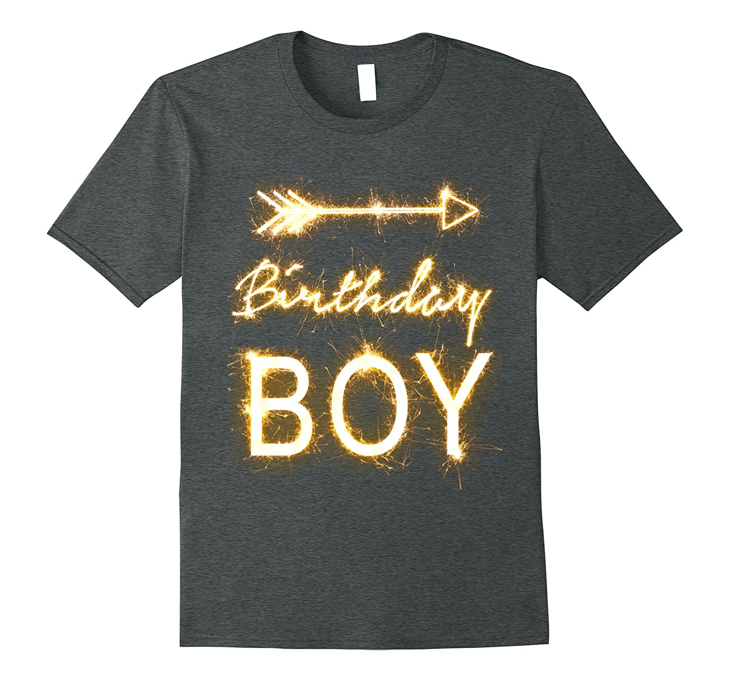 Birthday Shirts For Boys With Golden Sparks Art
