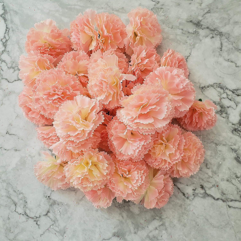 TRvancat Marigold Flower Heads Bulk 30Pcs Silk Artificial Flowers for DIY Wedding Party Deor 5cm Pink