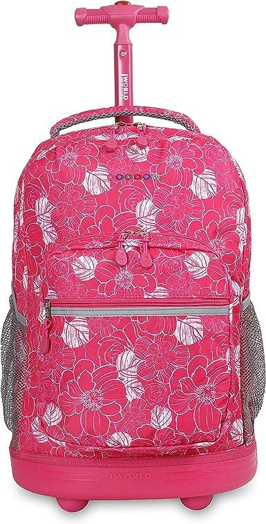 Petals J World New York Sunrise 18-inch Rolling Backpack