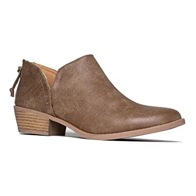 J. Adams Levi Ankle Bootie - Western Cowboy Pointed Toe Low Heel Ankle Boot | Ankle & Bootie [3Bkhe2007017]