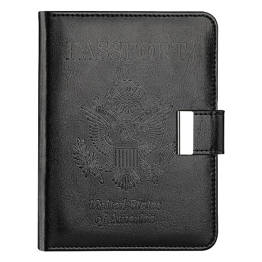 Vivefox RFID Leather Passport Holder Cover - Travel Passport Wallet  Document Organizer Id Card Case ( 6a7adb00e
