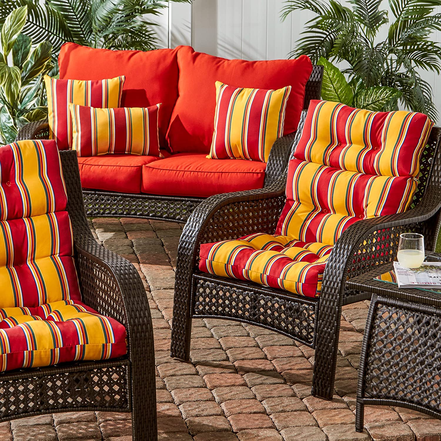 Amazon Greendale Home Fashions Indoor Outdoor High Back Chair