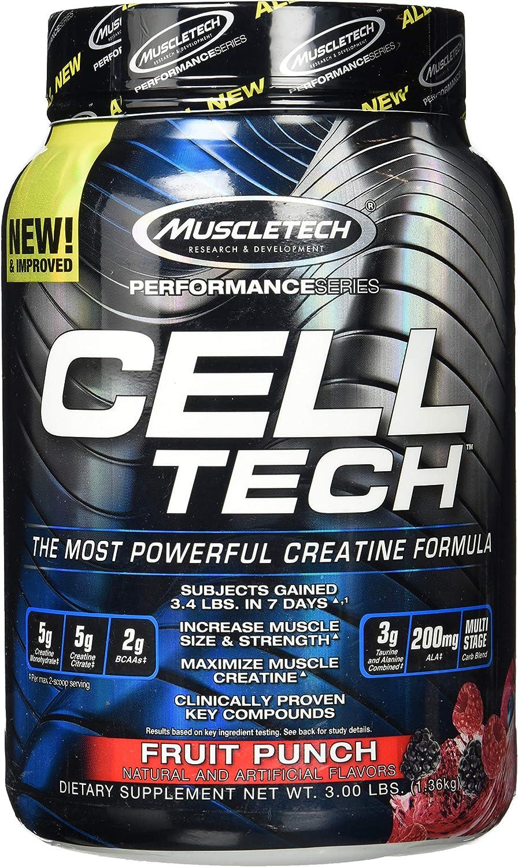 Muscletech Serie Rendimiento Suplemento de Tecnología Celular, Puñetazo de Frutas 1400 g