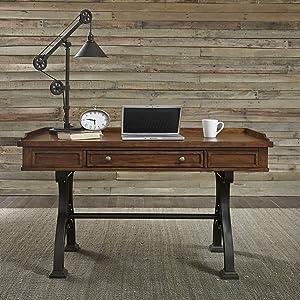 Liberty Furniture INDUSTRIES Arlington House Lift Top Writing Desk, Brown