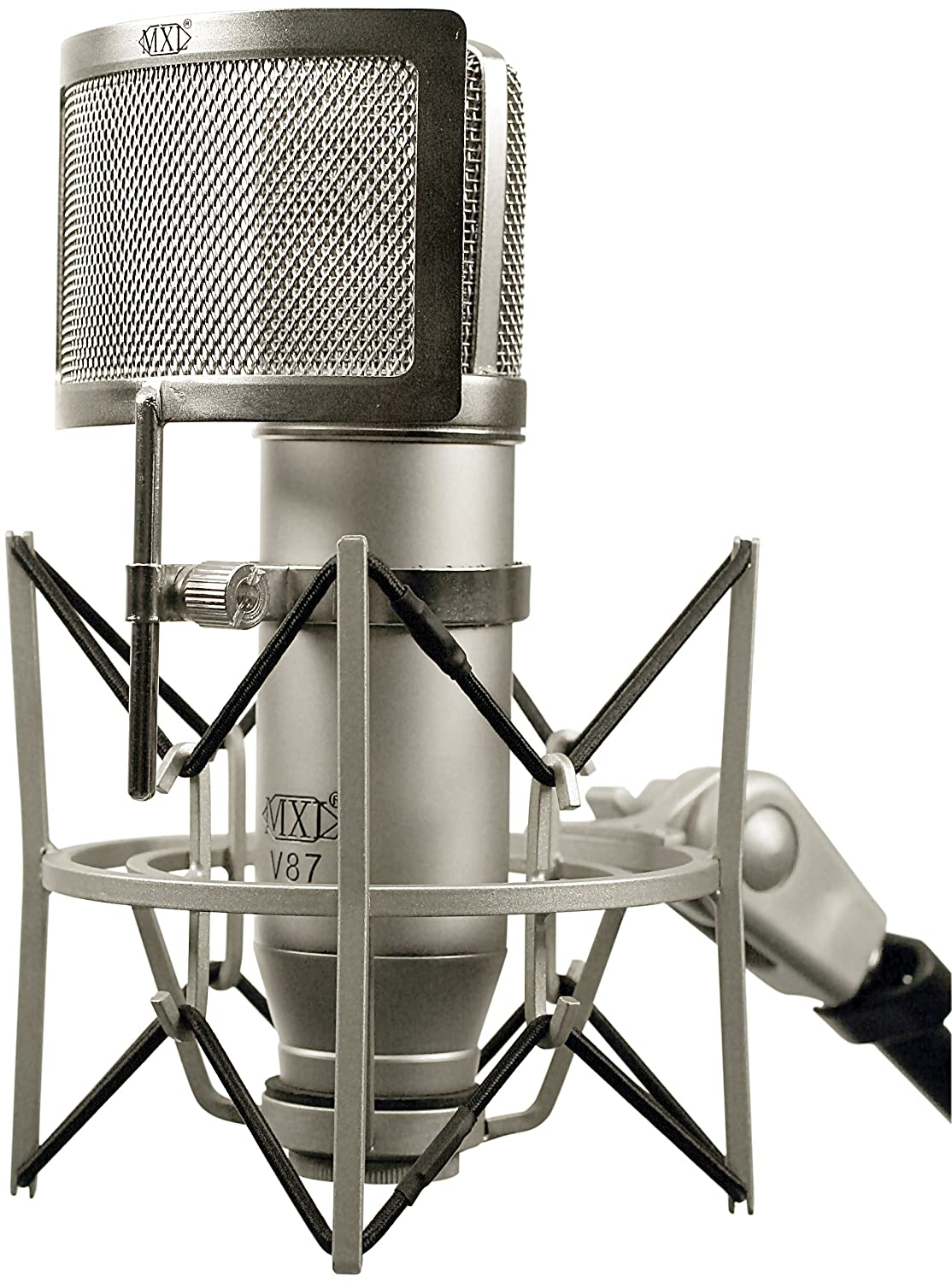 Amazon.com: MXL V87 Low-Noise Condenser Microphone with Pop Filter ...
