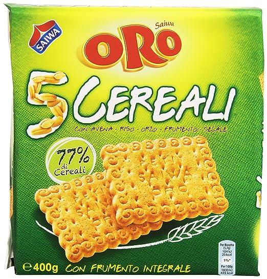 5 opinioni per Oro Saiwa 5 Cereali, Biscotti con Farina Integrale di Frumento- 400 gr