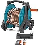 Gardena Classic 8009-20 Schlauchtrommel,  (geeignet zur Wandmontage, Trommel auf 50 m erweiterbar) mit 20 m Schlauch, Classic Spritze und Systemteilen
