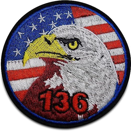 Finally Home - Parche termoadhesivo, diseño de Bandera de EE. UU. con águila: Amazon.es: Hogar