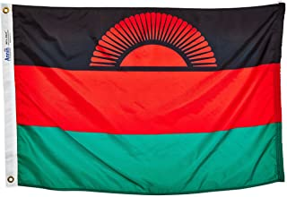 product image for Annin Flagmakers Model 195256 Malawi Flag Nylon SolarGuard NYL-Glo, 2x3 ft, 100% Made in USA to Official United Nations Design Specifications