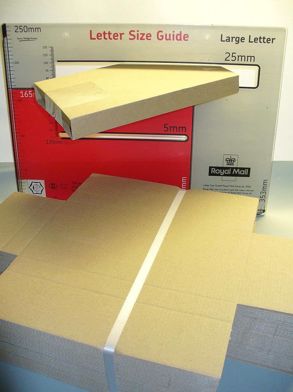 Pack of 25 Triplast C5 222 x 160 x 20 mm White PIP Cardboard Large Letter Postal Box for Royal Mail