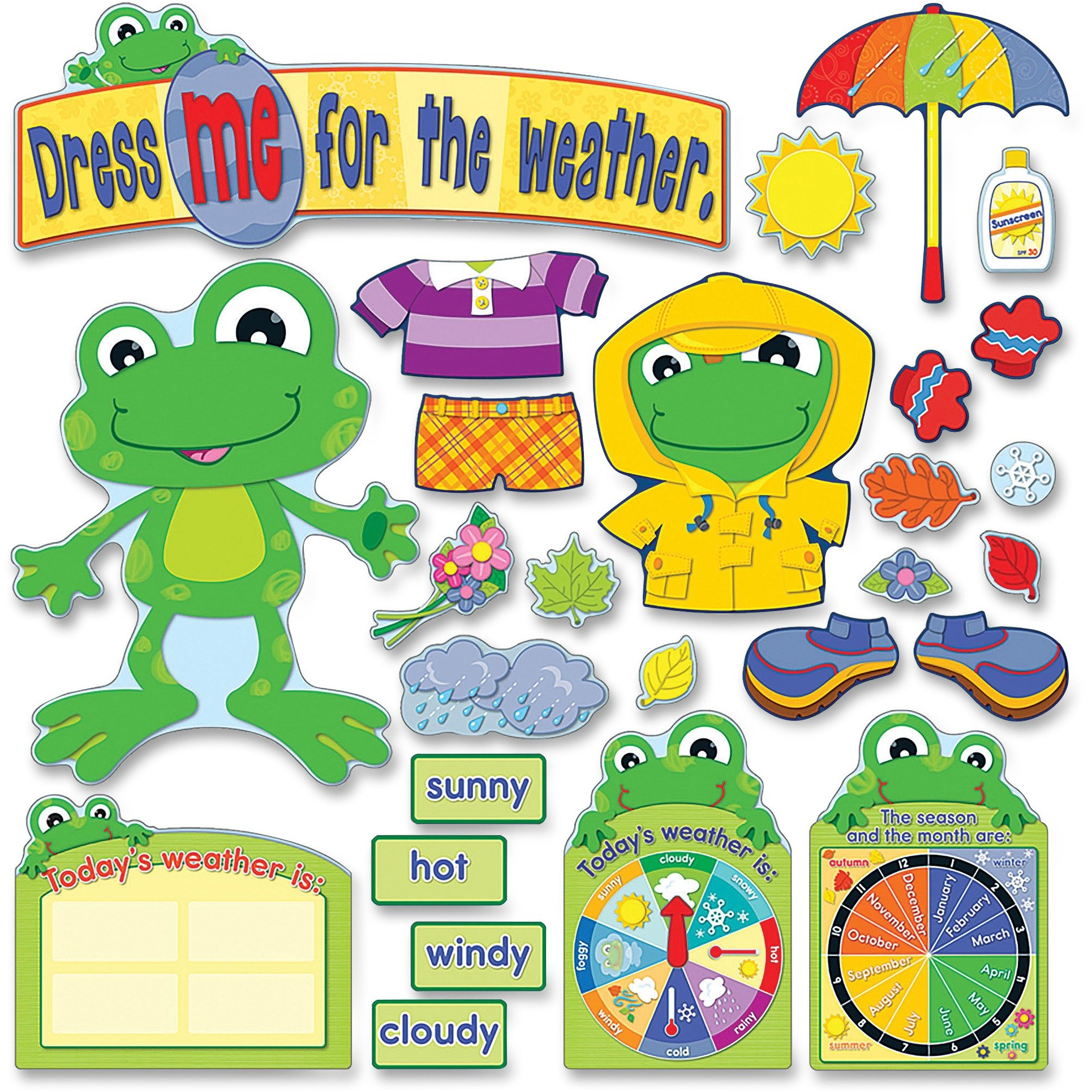Carson Dellosa Weather Frog Bulletin Board Set (110079)