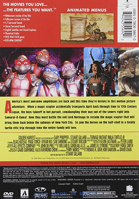 Teenage Mutant Ninja Turtles 3 [Reino Unido] [DVD]: Amazon ...
