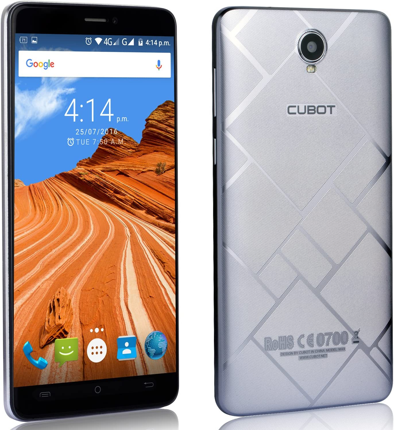 MAX Cubot 4G LTE Smartphone sin contrato móvil, 6.0 derecho HD IPS ...