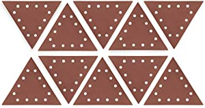 "WEN 6377SP240 Drywall Sander 240-Grit Hook & Loop 11-1/4"" Triangle Sandpaper, 10 Pack"