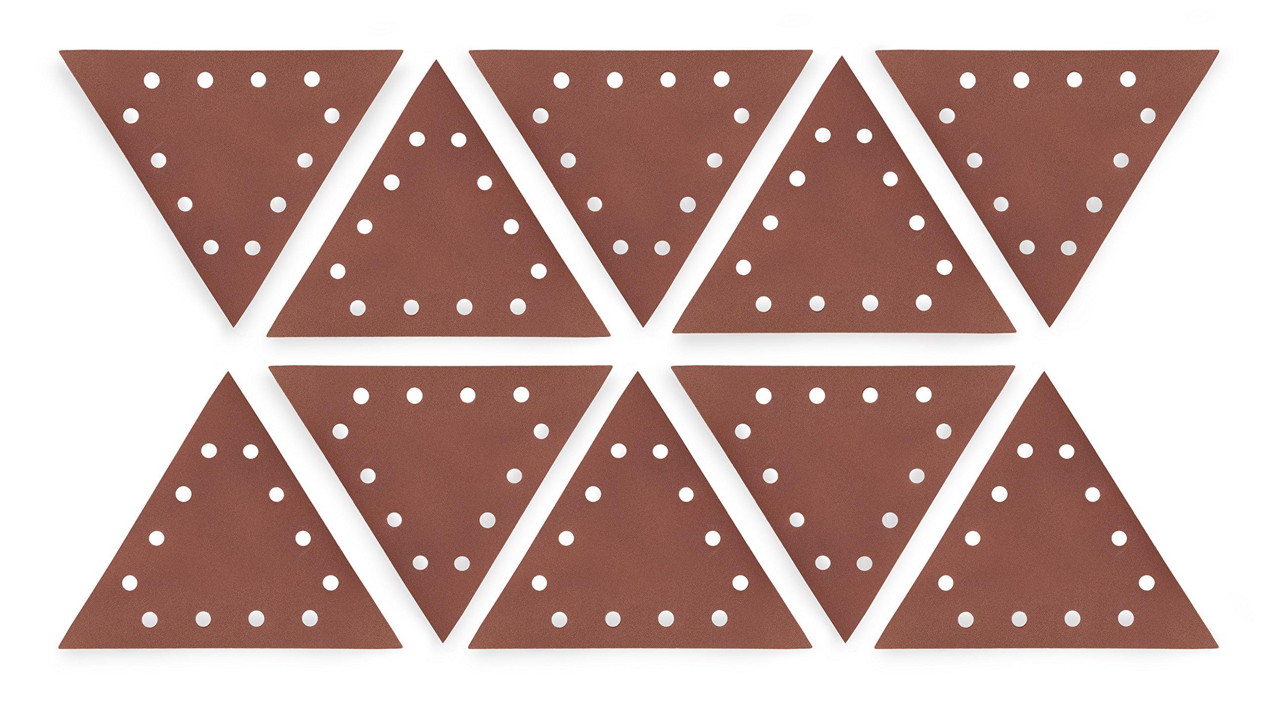 WEN 6377SP240 Drywall Sander 240-Grit Hook & Loop 11-1/4'' Triangle Sandpaper, 10 Pack by WEN