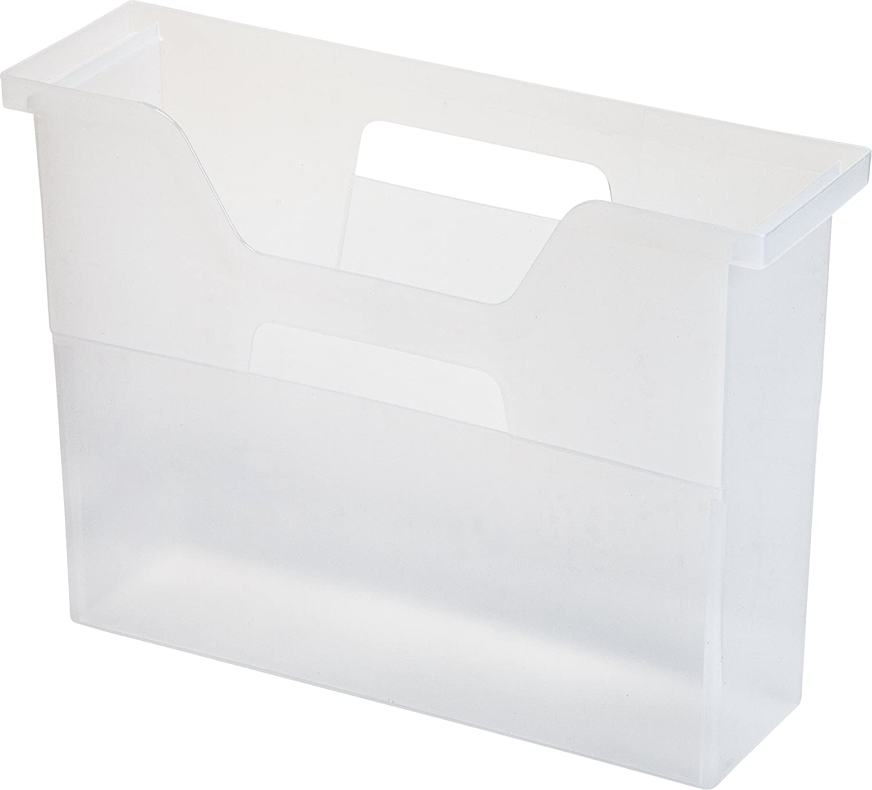 IRIS Desktop File Box, 6 Pack, Small, Clear