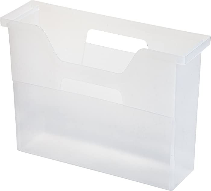 IRIS Desktop File Box, 6 Pack, Small, Clear