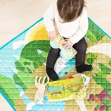 Alfombra Acolchada de Aventuras en El Bosque Magico para Niños y Niñas Bebes!