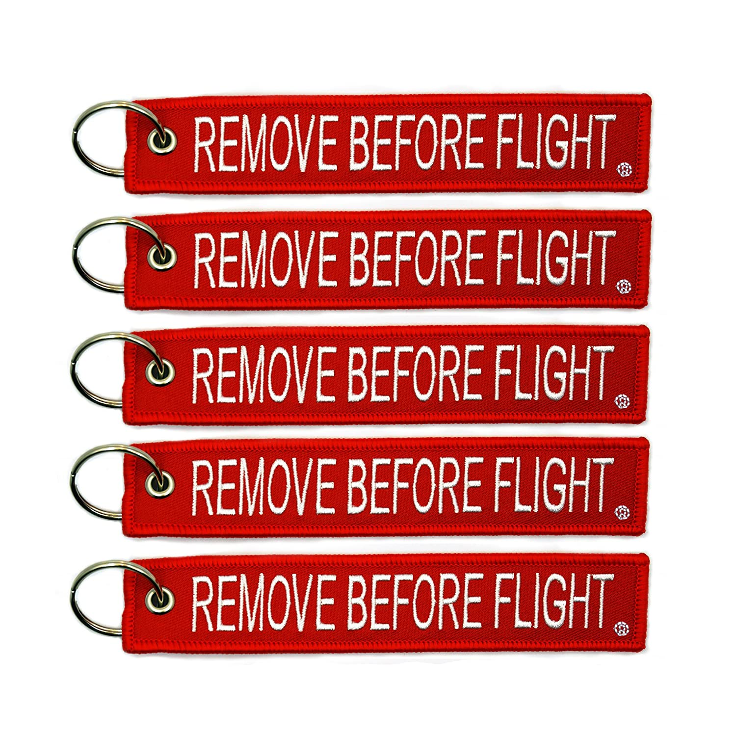 5x Remove Before Flight Key Chain Aviation Truck Motorcycle Pilot Crew Tag Boat by Power Bulbs