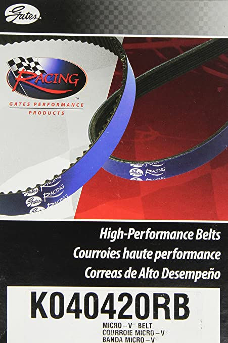 Gates K040420RB Blue Racing Micro-V Belt