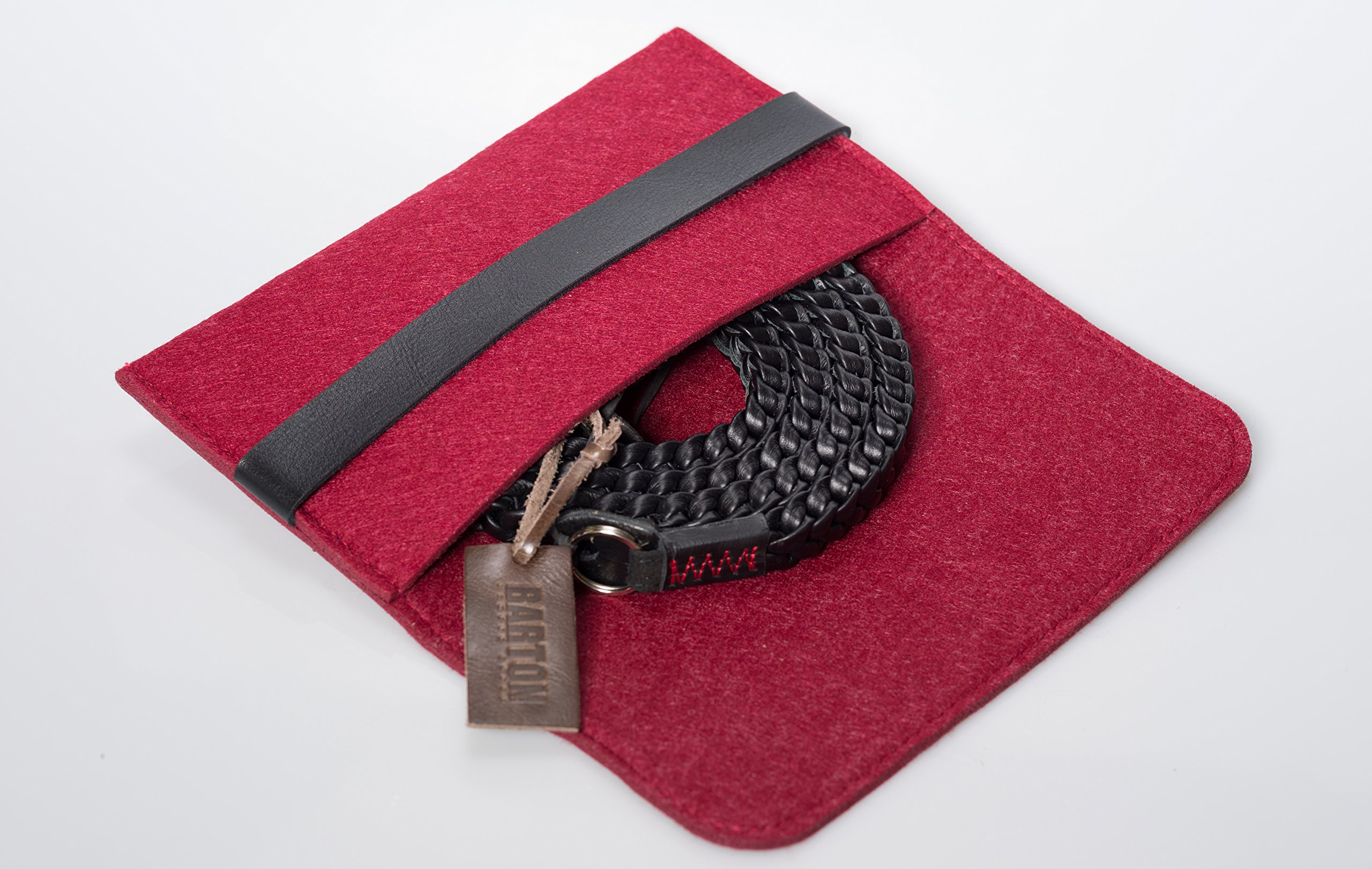 Barton 1972 Pitch Black Braided Leather 1972 XL 50'' (125cm) Leica Sony Fuji Luxury Designer Barton1972 Top Grain Leather by Barton 1972 (Image #7)