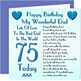 Dad 75th happy birthday card happy birthday to you dear dad dad 75th happy birthday card lots of love to the best dad in the world bookmarktalkfo Choice Image