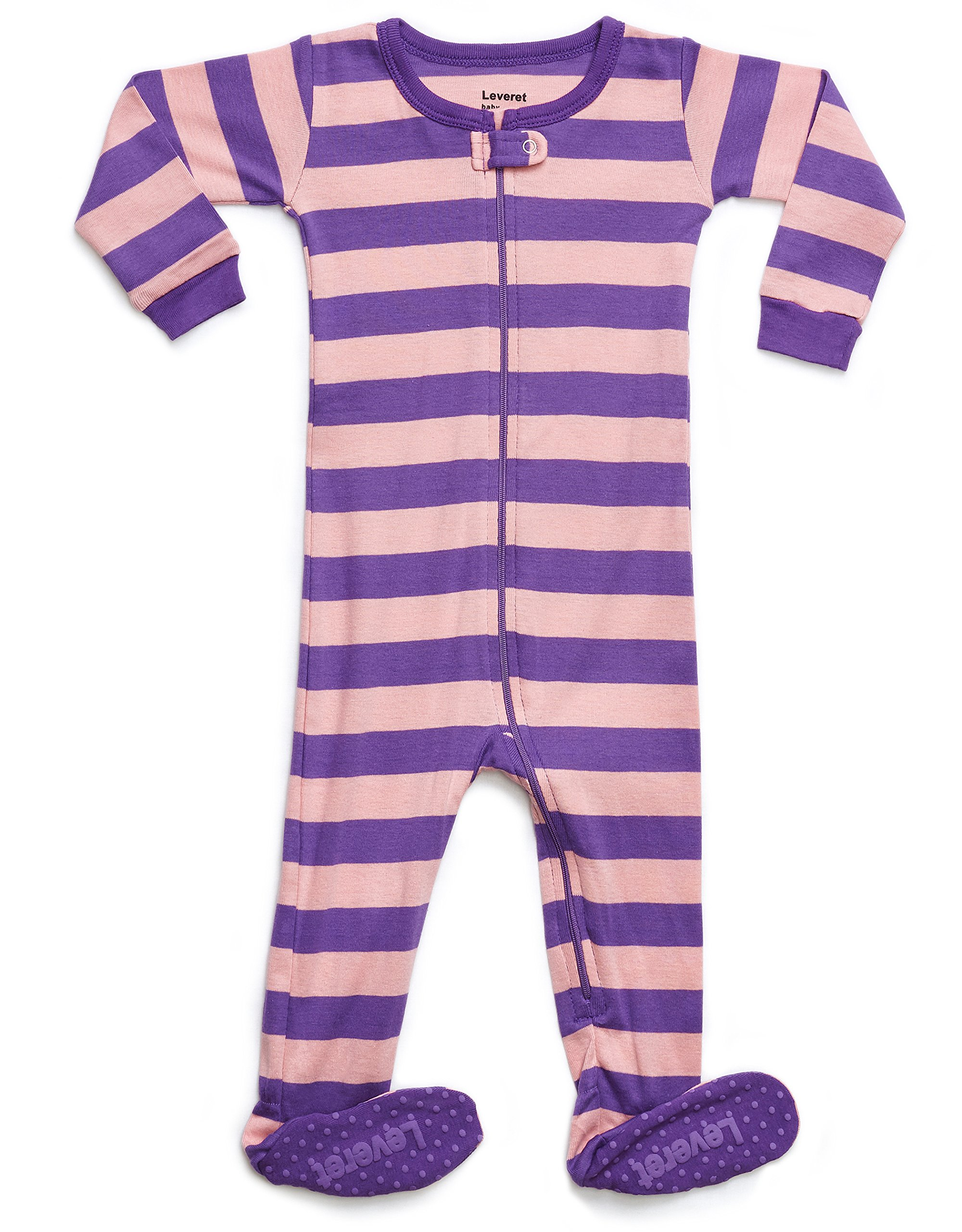Leveret Kids Organic Cotton Purple/Pink Baby Boys