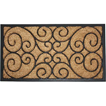 Amazon Com Natural Coir Rubber Non Slip Doormat 18x30