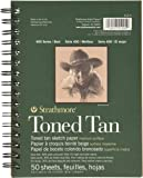 """Strathmore 400 Series Toned Tan Sketch Pad, 5.5""""x8.5"""" Wire Bound, 50 Sheets"""