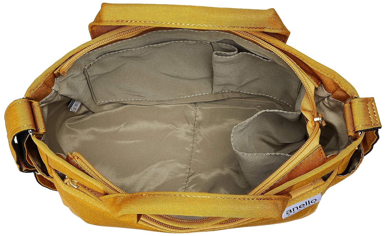 Anello Grande GU-H2315 SPS lätt vattenavvisande ljung poly tygväska 6 fickor Senap