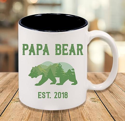37f5f3e1b9 Amazon.com  Papa Bear Mug - Custom Name  Handmade