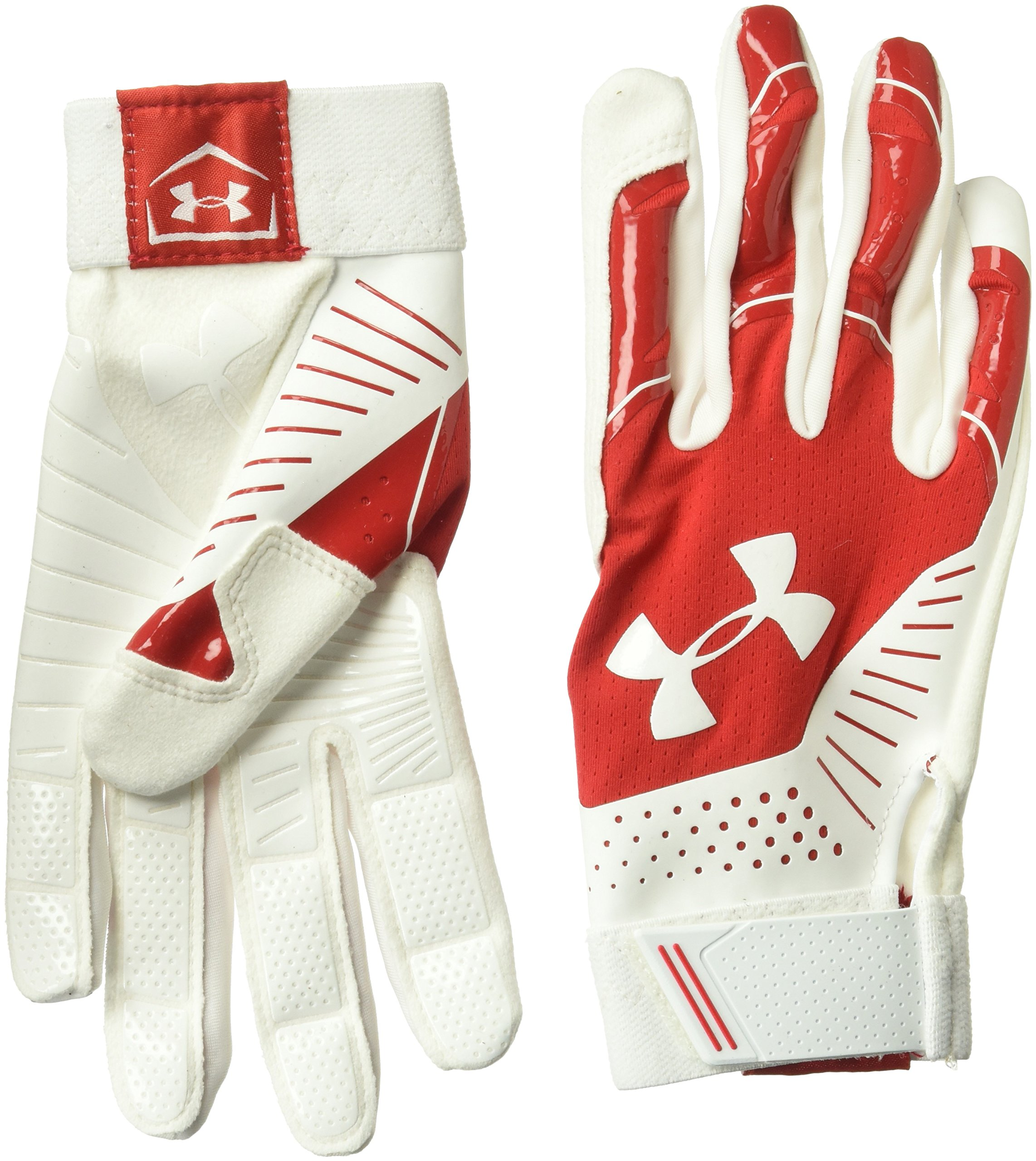 Under Armour Women's Motive Softball Gloves, Red (600)/White, Medium
