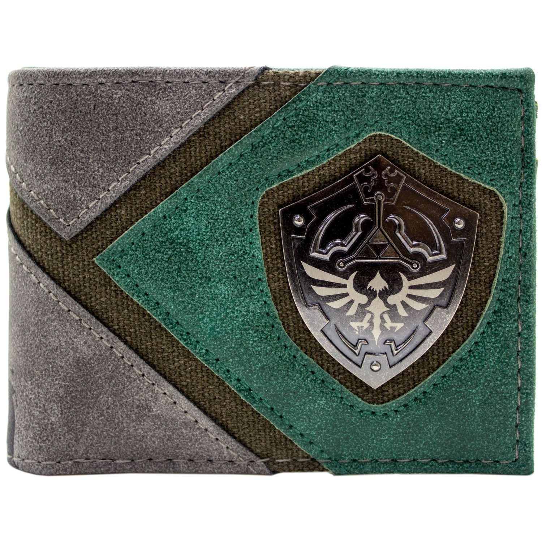 Cartera de Legend of Zelda Link Silueta y Escudo Verde 30932
