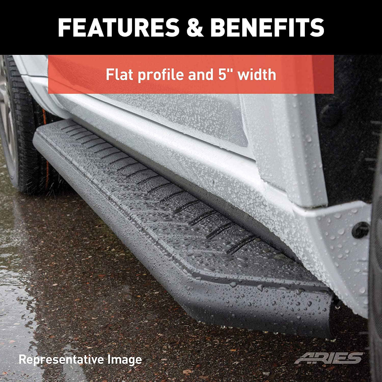 ARIES 2061017 AeroTread 67-Inch Black Stainless Steel SUV Running Boards Select Toyota RAV4