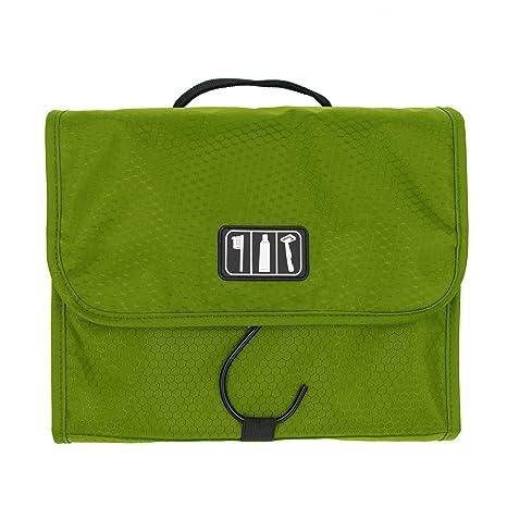 f8036d93e Ezigoo Neceser de Viaje Diseño Desplegable – Bolsa de Aseo Colgante Verde  con Gancho de Acero