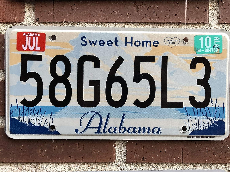 Amazon.es: Desconocido Matrícula Decorativa Americana (Estados Unidos) Original Estado de Alabama Retirada de la Circulación Año 2009 Sweet Home Alabama
