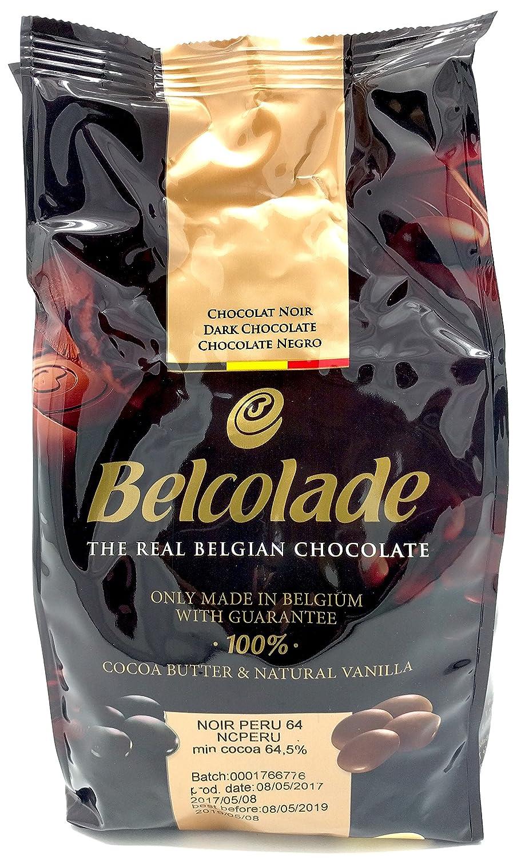 Belcolade 64% Peru pepitas de Chocolate Negro 1kg: Amazon.es: Alimentación y bebidas